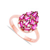 Pink Drop Ice Blocks Ring