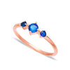Navy Trio Ring