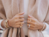 Champagne Mini Claw Cube Ring