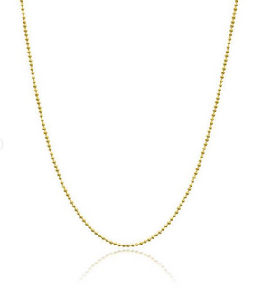 18K Gold Vermeil Faceted Ball Chain