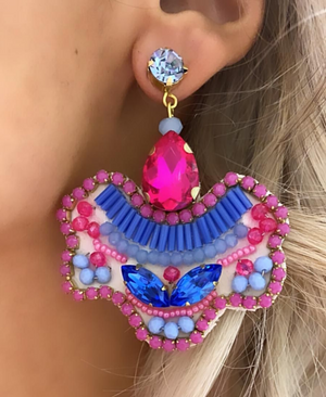 Pink & Blue Luna Earrings