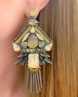 Grey & Gold Katrina Earrings