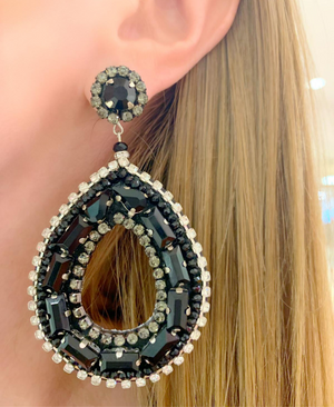 Black Celina Earrings