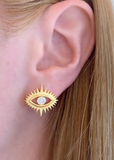 Eye Shine Stud Earrings