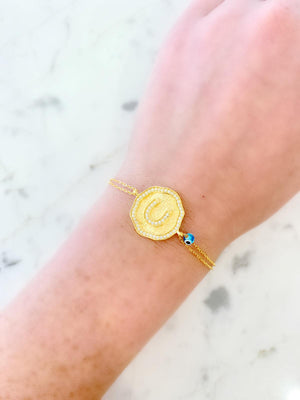 Horseshoe Medallion Bracelet