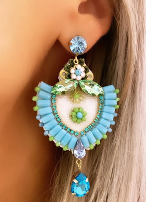 Green & Turquoise Maria Earrings