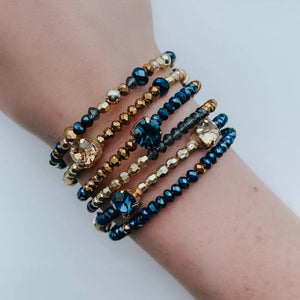 Blue & Gold Cali Bangles