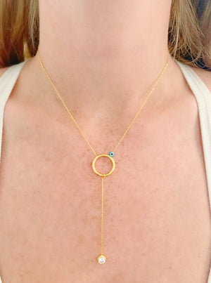 Circle Glint Necklace