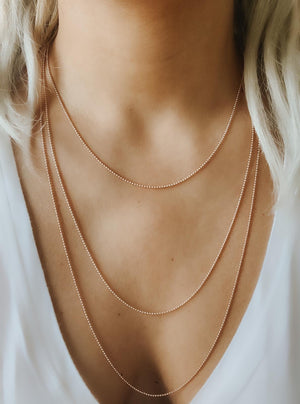18K Rose Gold Vermeil Faceted Ball Chain