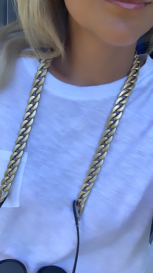 Matte Gold Sunglasses Chain