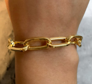 Thick Long Link Chain Bracelet