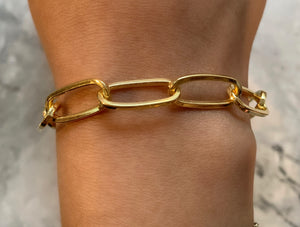 Thin Big Long Link Chain Bracelet