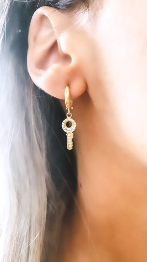 Diamond Keys Earrings