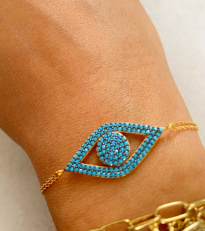 Turquoise Angel Eye Bracelet