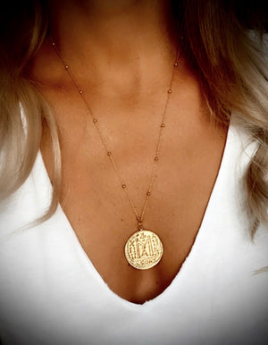 Byzantine Ancient Coin Necklace