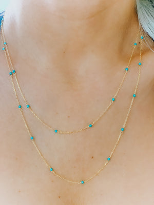 Sienna Chain/Turquoise Stones
