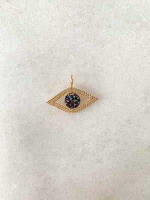 Rainbow Angel Eye Charm