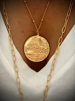 Ancient Greek Dirham Coin Necklace