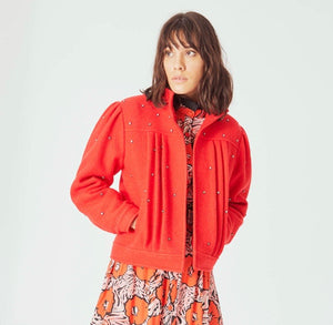 Emma Jacket in Coral Red