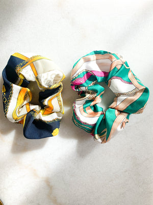 Silk Pattern Scrunchie (2 pack)