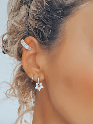 Baguette Crystal Ear Cuff