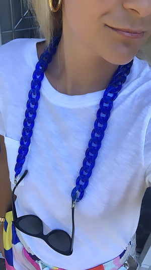 Blue Jumbo Link Sunglasses Chain