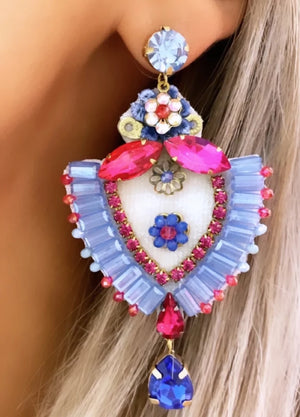 Pink & Blue Maria Earrings