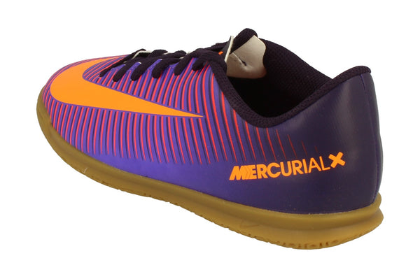 Nike Junior Mercurial Vortex III IC Football Boots 831953 Trainers  585 - Purple Dynasty Bright Citrus 585 - Photo 0