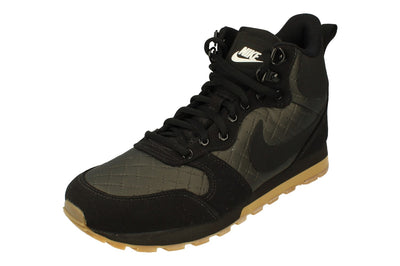 Nike Womens Md Runner 2 Mid Prem Hi Top Trainers 845059 004 - Black Gum Light Brown 004 - Photo 0
