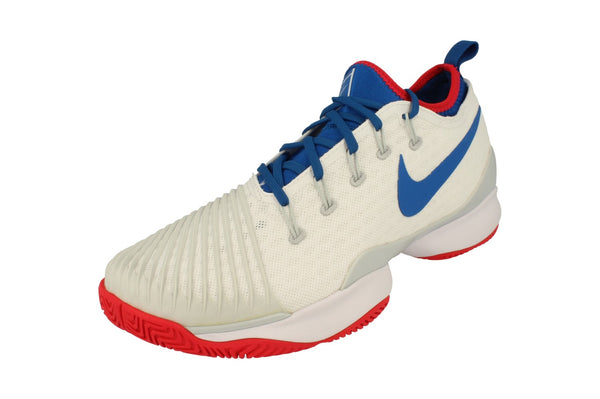 Nike Air Zoom Ultra React HC Mens Tennis Shoes 859719 Sneakers Trainers  114 - White Blue Jay Pure Platinum 114 - Photo 0