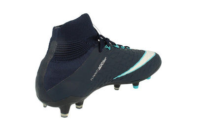 Nike Junior Hypervenom Phantom 3 Df FG Football Boots 882087  414 - Obsidian White Gamma Blue 414 - Photo 2