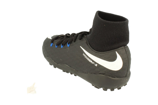 Nike Junior Hypervonomx Phelon 3 Df Tf Football Boots 917775  002 - Black White Game Royal 002 - Photo 0