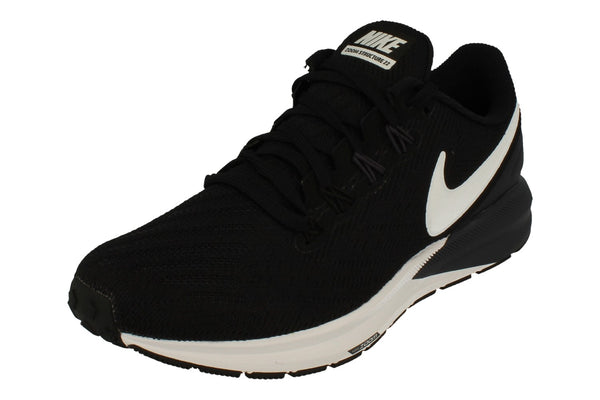 Nike Womens Air Zoom Structure 22 Aa1640  002 - Black White Gridiron 002 - Photo 0