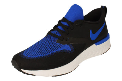 Nike Odyssey React 2 Flyknit Mens Ah1015  011 - Black Racer Blue White 011 - Photo 0