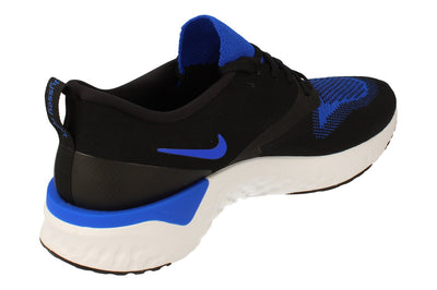 Nike Odyssey React 2 Flyknit Mens Ah1015  011 - Black Racer Blue White 011 - Photo 2