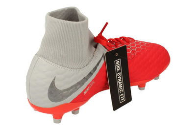 Nike Junior Hypervenom 3 Academy Df FG Football Boots Ah7287 600 - Light Crimson Grey 600 - Photo 2