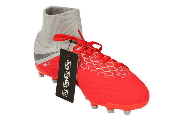 Nike Junior Hypervenom 3 Academy Df FG Football Boots Ah7287 600 - Light Crimson Grey 600 - Photo 0