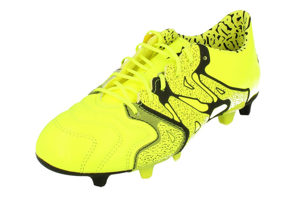 Adidas X 15.1 Fg/Ag Leather Mens Football Boots  B26979 - Yellow Black B26979 - Photo 0
