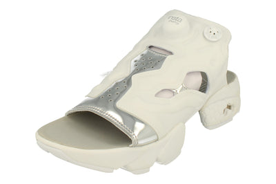 Reebok Instapump Fury Sandal Mag Womens   - White Silver Metallic Bd3186 - Photo 0