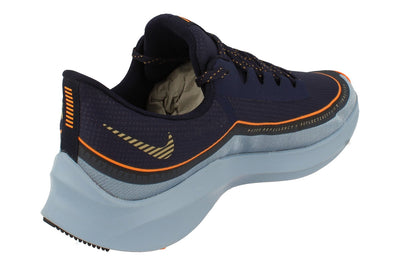 Nike Zoom Winflo 6 Shield Mens Bq3190  400 - Blackened Blue Gold 400 - Photo 2