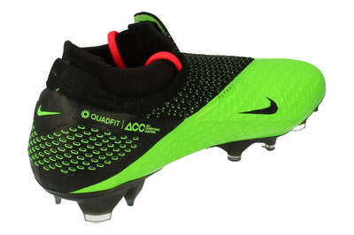 Nike Phantom Vsn 2 Elite Df FG Mens Football Boots Cd4161  036 - Black Metallic Platinum 036 - Photo 2