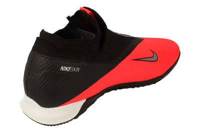 Nike Phantom Vsn 2 Academy Df IC Mens Football Boots Cd4168 Trainers Shoes  606 - Laser Crimson Metallic Silver 606 - Photo 2