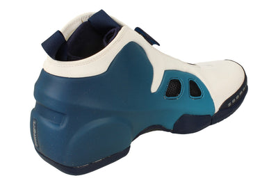 Nike Air Flightposite 2 Mens Hi Top Basketball Trainers Cd7399  100 - White Midnight Blue 100 - Photo 2
