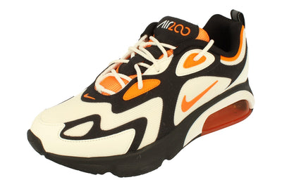 Nike Air Max 200 Mens Ci3865 004 - Black Magma Orange Sail 004 - Photo 0