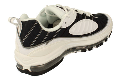 Nike Air Max 98 Mens Cj0592  100 - White Black Metallic Silver 100 - Photo 2