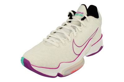Nike Zoom Rize 2 Mens Basketball Trainers Ct1495  100 - Summit White Hyper Violet 100 - Photo 0