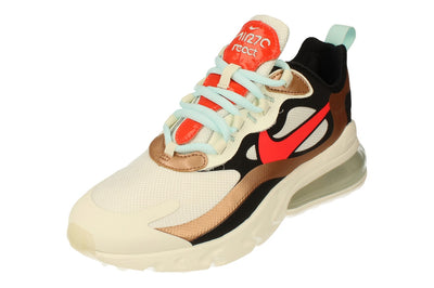 Nike Air Max 270 React Womens Ct3428  100 - Sail Black Metalllic Red 100 - Photo 0