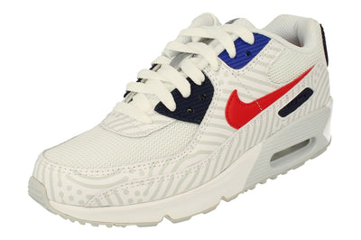 Nike Air Max 90 GS Cz8650  100 - White University Red 100 - Photo 0