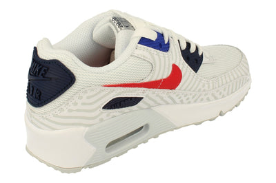 Nike Air Max 90 GS Cz8650  100 - White University Red 100 - Photo 2
