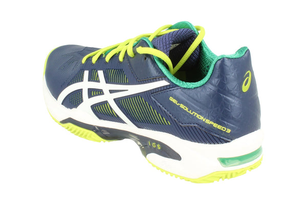 Asics Gel-Solution Speed 2 Clay Mens Tennis Shoes E601N Sneakers Trainers  5001 - Indigo Blue White 5001 - Photo 0